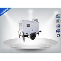 Brushless Silent Genset Trailer 4 Cylinder Prime Power 50Kw / 63Kva Water - Cooling Manufactures