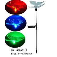 China Colorful led Butterfly Solar Stake Light Yard Decor on sale