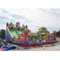 Digital Printing PVC 0.55mm Large Inflatable Slides For Kids / Adult CE Manufactures