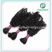 Peruvian 5A virgin remy hair bulk ,natural color, deep curly style 10''-26''length hair Manufactures
