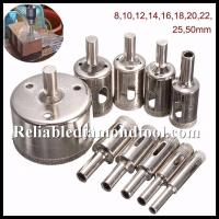 Straight Shank Electroplated Diamond Drill Cutter / Glass Hole Saw Size 5-155mm Manufactures