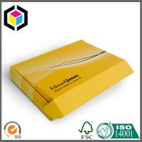 Tuck Top Corrugated Shipping Box; Matte Yellow Color Printed Corrugated Box Manufactures