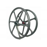 Tubuless 6 Spoke Carbon 29er Wheelset 3K Toray 700 30MM*30MM For Mountain Bike Manufactures
