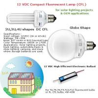 24V DC electronic ballast dc energy saving lamp bulb Compact Fluorescent Lamp CFL Manufactures