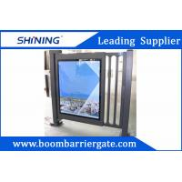 Aluminum Alloy Metal Automatic Swing Gate Door With Adjustable Led Scrips Manufactures