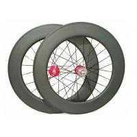 25mm Width Carbon Track Bike Wheels 700c 88mm Matte / Glossy Finishing Manufactures