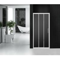Grey Wheel Bathroom Shower Doors 3 Panel Sliding Tri Panel Shower Door Screen Manufactures