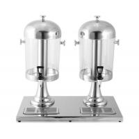 8 + 8Ltr Stainless Steel Cookwares / Round Lid Double Juice Dispenser with Plastic Handle Center Ice Core Manufactures