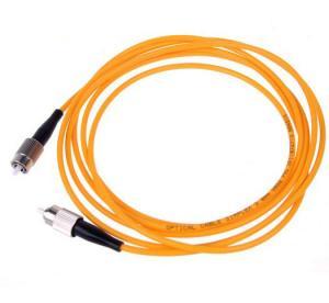 China Orange color Fiber Optic Patch Cord FC To FC Multimode Simplex on sale