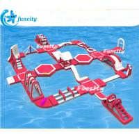 45m L * 40mW *6mH Inflatable Water Park Equipment ,Floating Water Park Seaside use Manufactures