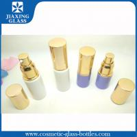 China Color Coated Airless Pump Bottle 30ml With Golden Aluminum Cap on sale