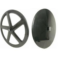 Quality Front 5 Spoke Rear Carbon Disc Wheel Tubular / Clincher 700C 22MM Width for sale