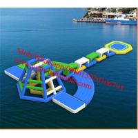 inflatable water floating playground inflatable pool obstacle Manufactures