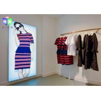 Fabric Poster Window Poster Holders , Frameless LED Light Box Wall Mounted Manufactures