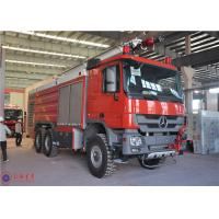 Quality 6x6 Drive Airport Fire Truck Electric Power Window Mercedes - Benz Actros Long Cab for sale