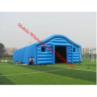 Blue Color Inflatable Tent / Inflatable Warehouse Tent for Storage Manufactures