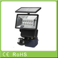 High quality security auto-sensing LED motion sensor outdoor solar flood light Manufactures