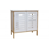 BSCI Assemble 60*30*60cm Bamboo Bathroom Storage Cabinet Manufactures