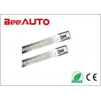 Stainless Steel Epoxy Coated Releasable Cable Ties , Thick Metal Detectable Zip Ties Manufactures