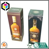 Rigid Gold Metallic Paper Cardboard Folding Gift Wine Carton Packaging Box Manufactures