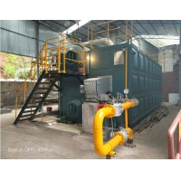China SZS Double Drums Horizontal Waste Oil Natural Gas Fired Steam Boiler for paper plant on sale