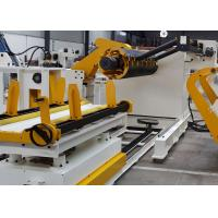 10000 KG Hydraulic / Air Expansion Sheet Metal Decoiler Machine With Supporting Arm Manufactures