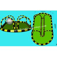 0.6mm PVC Tarpaulin Sealed Inflatable Zorb Track for Kids and Adults Entertainment Manufactures