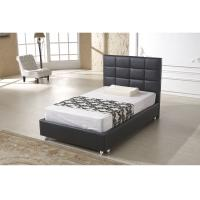 Grey Platform Bed Upholstered PU Leather High Density Foam OEM Service Manufactures