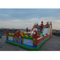 Anti - Ruptured Commercial Inflatable Fun City With Slide / Obstacle 2 Years Warranty Manufactures