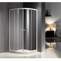 White Quadrant Curved Corner Shower Enclosure Convenient Comfort Free Standing Type Manufactures