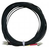 OPTOSTAR Black Fiber Optic Jumper LC/APC to LC/APC Optical Cable LSZH Jacket Manufactures
