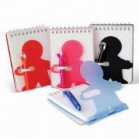 Notebooks for Promotional and School Use, Made of PVC, Small Orders are Welcome Manufactures