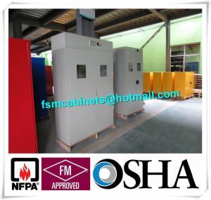 Medical Compressed Gas Cylinder Storage Cabinet , Drum Safety Storage Cabinets Manufactures