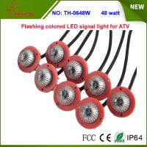 48w Multi color Flashing LED signal warning light for ATV,UTV, SUV, Buggy, Rhino, RZR Manufactures