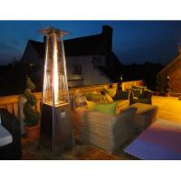 Powder Coated SS Square Patio Heater For Garden 490mm*490mm*25mm Base Size Manufactures
