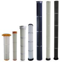 High Efficiency Industrial Dust Filter With PU / Rubber Top End Cap Long Life Manufactures