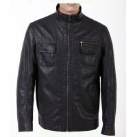 Size 52, Classic and Black Charm Men Lightweight PU Leather Motorcycle Jackets Manufactures
