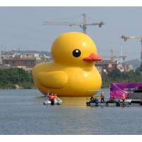 Giant Custom Inflatable Products , Water Floating Inflatable Yellow Duck Manufactures
