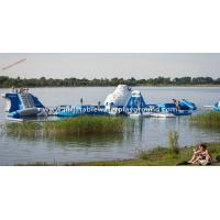 Commercial Grade Inflatable Blow Up Water Park With Iceberg And Water Toys Manufactures