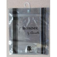 Quality Water proof Poly Bags With Hangers / Hook And Zip Lock For Men's Underwear / Garment for sale