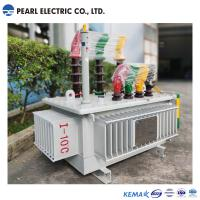100 Kva Amorphous Alloy Transformer , Waterproof Oil Immersed Transformer Manufactures