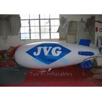 Quality Inflating Helium Advertising Zeppelin LED Light Balloons With 0.18 mm PVC Material for sale
