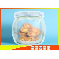 Clear Stand Up Ziplock Bags , Zip Pouch For Food / Snack / Tea Storage Manufactures