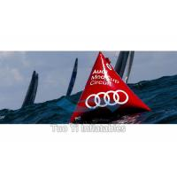 Bright Red Pyramid Sea Floating Inflatable Marker Buoys Advertising Manufactures