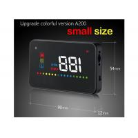 Small OBD 2 Port Vehicle Heads Up Display A200 Hud Four Display Functions Lightweight Manufactures