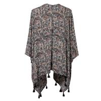 Quality Abstract Printed Lyocell Viscose Cute Womens Clothes With Tassels for sale