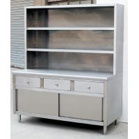 Quality L1500MM with 3-Drawers and Over-Shelves Stainless Steel Work Cabine Catering Equipment for sale