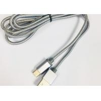 Quality 3.3feet high gloss braided textile micro / 8pin / type-c charging cable for for sale