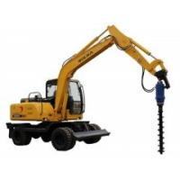 Excavator Hydraulic Earth Auger Hole Drilling With Two Piece Shaft Design KA6000 Manufactures