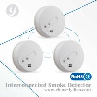 Wireless Interconnectable Optical Smoke Detector For Security Alarm System Manufactures